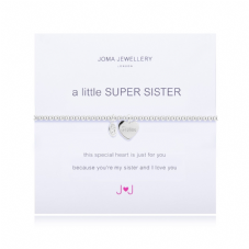 Joma Jewellery A Little SUPER SISTER Silver Plated Beaded Bracelet